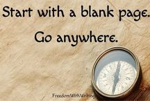 start with a blankpage. Go anywhere
