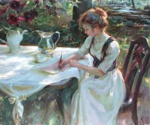 Girl Writing2